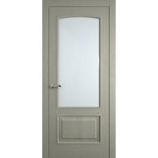 Межкомнатная дверь Мебель-Массив Венеция Эмаль RAL 7044 без патины полотно с остеклением