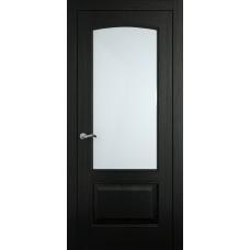 Межкомнатная дверь Мебель-Массив Венеция Эмаль RAL 9005 без патины полотно с остеклением