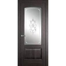 Межкомнатная дверь Мебель-Массив Венеция Пепельный дуб без патины полотно с остеклением