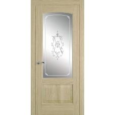 Межкомнатная дверь Мебель-Массив Венеция Шампань дуб без патины полотно с остеклением витраж
