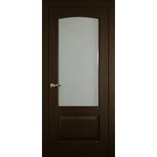 Межкомнатная дверь Мебель-Массив Венеция Темный дуб без патины полотно с остеклением