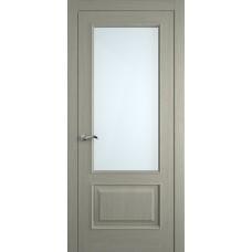 Межкомнатная дверь Мебель-Массив Верона Эмаль RAL 7044 без патины полотно с остеклением