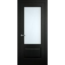 Межкомнатная дверь Мебель-Массив Верона Эмаль RAL 9005 без патины полотно с остеклением
