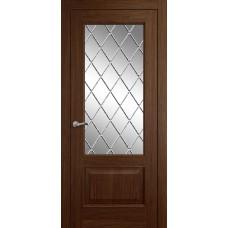 Межкомнатная дверь Мебель-Массив Верона Коньячный дуб без патины полотно с остеклением витраж