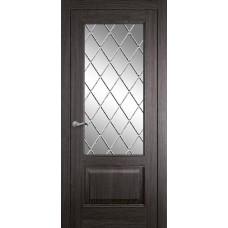 Межкомнатная дверь Мебель-Массив Верона Пепельный дуб без патины полотно с остеклением витраж