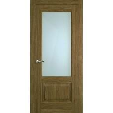 Межкомнатная дверь Мебель-Массив Верона Светлый дуб без патины полотно с остеклением