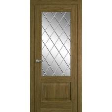 Межкомнатная дверь Мебель-Массив Верона Светлый дуб без патины полотно с остеклением витраж