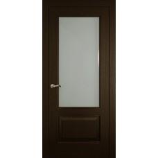 Межкомнатная дверь Мебель-Массив Верона Темный дуб без патины полотно с остеклением