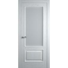 Межкомнатная дверь Мебель-Массив Верона Эмаль белая патина полотно с остеклением