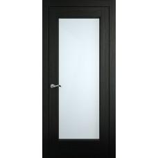 Межкомнатная дверь Мебель-Массив Виченца Эмаль RAL 9005 без патины полотно с остеклением