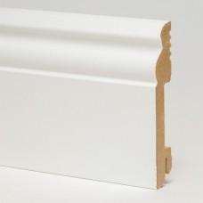 Плинтус MDF 5535 МДФ White белый 100 x 18