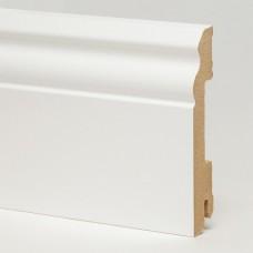 Плинтус MDF 5535 МДФ White белый глянцевый 100 x 18