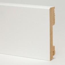Плинтус MDF 5913 МДФ White белый глянцевый 100 x 18