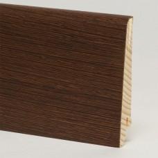 Плинтус шпонированный Pedross Венге ориджинал 80 x 16 мм