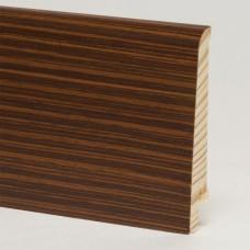 Плинтус шпонированный Pedross Венге полосатый 80 x 16 мм