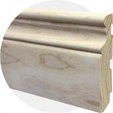 Плинтус из массива ясеня Фигурный 100 x 15 мм