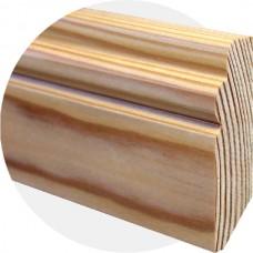 Плинтус из массива лиственницы Рельефный 70 ? 20 мм
