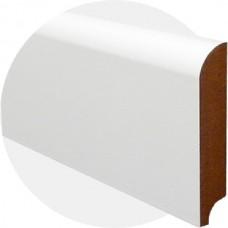 Плинтус из МДФ белый Прямой 100 x 18 мм