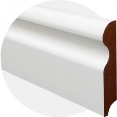 Плинтус из МДФ белый Фигурный Волна 100 x 18 мм