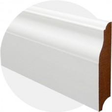 Плинтус из МДФ белый Фигурный-1 100 x 18 мм