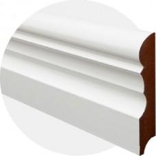 Плинтус из МДФ белый Фигурный-2 100 x 18 мм