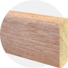 Плинтус из массива мербау Прямой 70 x 15 мм