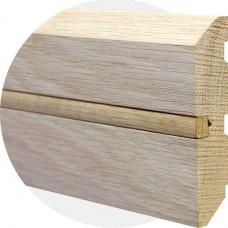 Плинтус из массива дуба Прямой со вставкой 100 x 15 мм