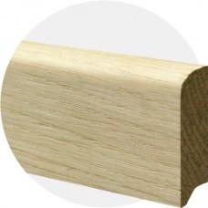 Плинтус из массива дуба Прямой-50 50 x 15 мм