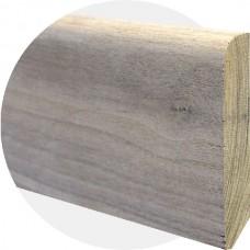 Плинтус из массива ореха Прямой высокий 90 ? 15 мм