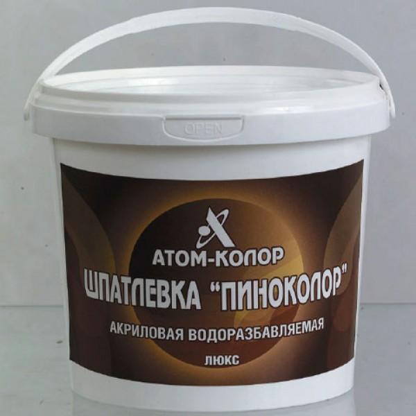 Покрытия и шпатлевки Готовая акриловая шпатлевка по дереву Пиноколор-паркет (Россия) сосна 0,6 кг
