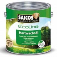 Масло с твердым воском Saicos Ecoline Hartwachsol (Германия) 3600 шелковисто-матовое 0,75л