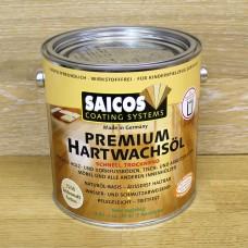 Масло с твердым воском с ускоренным временем высыхания Saicos Hartwachsol Premium (Германия) 3200 шелковисто-матовое 2,5л