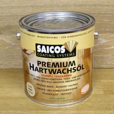 Масло с твердым воском с ускоренным временем высыхания Saicos Hartwachsol Premium (Германия) 3305 матовое 2,5л