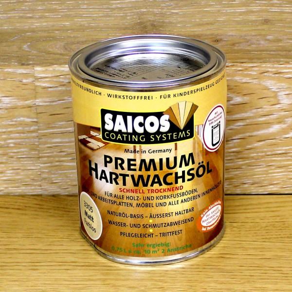 Покрытия и шпатлевки Масло с твердым воском с ускоренным временем высыхания Saicos Hartwachsol Premium (Германия) 3305 матовое 125мл