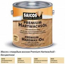 Масло с твердым воском с ускоренным временем высыхания Saicos Hartwachsol Premium (Германия) 3310 ультраматовое 125мл