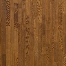 Паркетная доска Polarwood Ясень Виски темно-коричневый матовый лак коллекция Classic 3-полосная