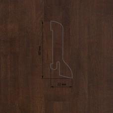 Плинтус Polarwood Oak Brown (Дуб Коричневый) шпон 22 x 60 мм