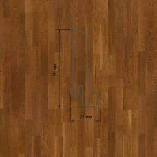 Плинтус Polarwood Oak Lacquered Cognac (Дуб Коньячный лак) шпон 22 x 60 мм