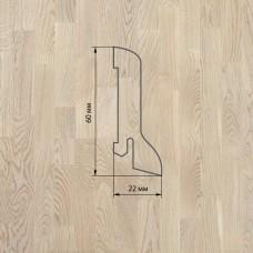 Плинтус Polarwood Oak White (Дуб Белый) шпон 22 x 60 мм