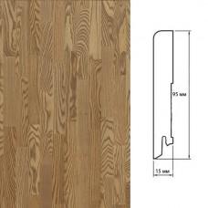 Плинтус Polarwood Ash Beige (Ясень Бежевый) шпон 15 x 95 мм