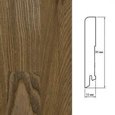 Плинтус Polarwood Ash Brown (Ясень Коричневый) шпон 15 x 95 мм