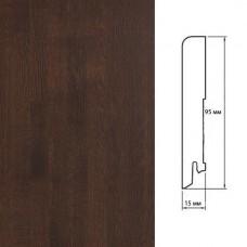 Плинтус Polarwood Oak Brown (Дуб Коричневый) шпон 15 x 95 мм