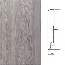 Плинтус Polarwood Oak Grey (Дуб Серый) шпон 15 x 95 мм