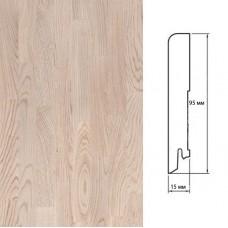 Плинтус Polarwood Oak White (Дуб Белый) шпон 15 x 95 мм