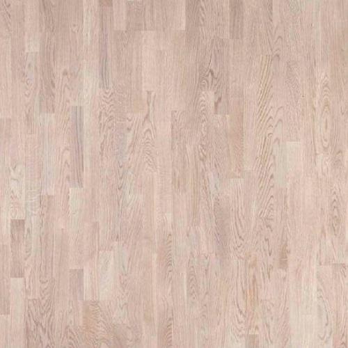 Паркетная доска Polarwood Дуб Тундра белый матовый коллекция Classic 3-полосная
