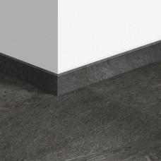 Виниловый плинтус Quick-Step Сланец чёрный (Black slate) QSVSKRA40035 (AMCL40035 / AMGP40035)