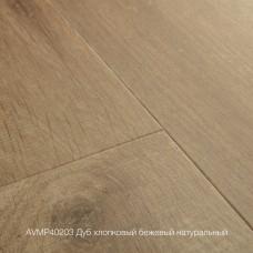 Плитка ПВХ Quick-Step Дуб хлопковый бежевый натуральный (Cotton Oak Deep Natural) коллекция Alpha Vinyl Medium Planks AVMP40203