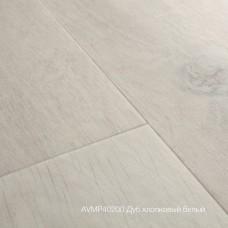 Плитка ПВХ Quick-Step Дуб хлопковый белый (Cotton Oak White Blush) коллекция Alpha Vinyl Medium Planks AVMP40200