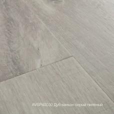 Плитка ПВХ Quick-Step Дуб каньон серый пилёный (Canyon Oak Grey With Saw Cuts) коллекция Alpha Vinyl Small Planks AVSP40030