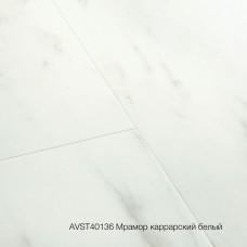 Плитка ПВХ Quick-Step Мрамор каррарский белый (Marble Carrara White) коллекция Alpha Vinyl Tiles AVST40136